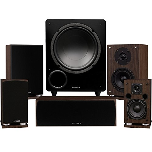 Fluance Elite Series Compact Surround Sound Home Theater 5.1 Channel Speaker System Including Two-Way Bookshelf, Center Channel, Rear Surrounds and a DB10 Subwoofer - Black Ash (SX51BC)