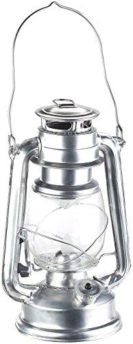 Lunartec Petrollampe: LED-Sturmleuchte im Öllampen-Design, Flammen-Imitation, silberfarben (Sturmlampe LED)