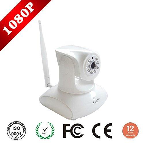 EasyN Wifi 802.11b/g/n Cámara IP Inalámbrica 2MP Sistema de Seguridad Móvil Cámara IP con Visión Nocturna y Control del Motor Integrado