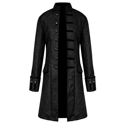 Anywow Herren Steampunk viktorianischen Mantel mittelalterlichen Jacke Viking Renaissance formalen...