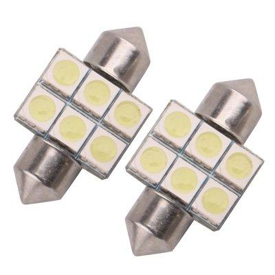 Warm Home lichte leeslamp voor auto 31 mm Super White 6 LED tuin