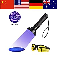 XYUANG UV 100LED Flashlight Torch Light 395-400nm Ultra Violet Light Blacklight UV Lamp Torch For Dog Urine Pet Stains and Bed Hot