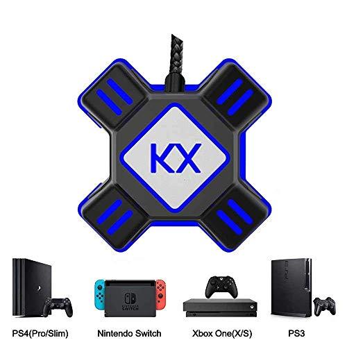 KX Mouse Keyboard Converter, Adaptador de Controlador de Juego para USB 2.0 Mouse Adaptador de Teclado Portátil Compatible con PS4 / Xbox One / Nintendo Switch / PS3 / Xbox360 / Xbox360 Slim