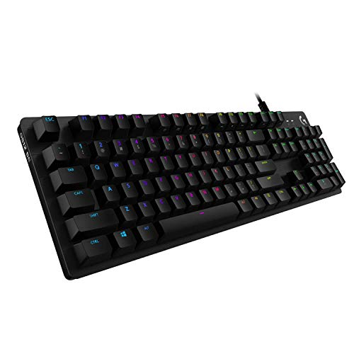 Logitech G512 Special Edition mechanische Gaming-Tastatur, GX-Blue Clicky Switches, LIGHTSYNC RGB-Beleuchtung, USB-Durchschleife, Aluminium-Gehäuse, Deutsches QWERTZ-Layout, Schwarz