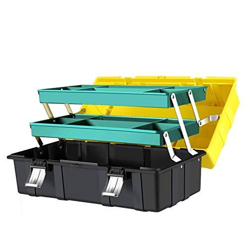 Caja De Herramientas Plegables De Tres Capas De 1 Piezas, Herramientas De Mantenimiento Portátil Multifuncionales De Hardware Para El Hogar (Size : 21inch 1Pc)