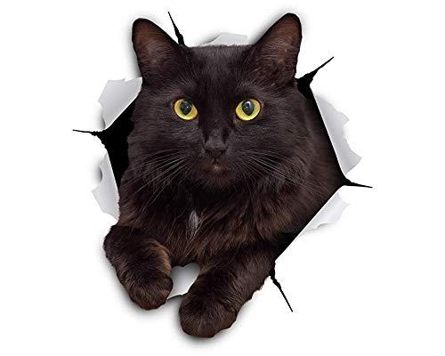 2er-Pack Schön 3d Katze Wand-Kunst-Aufkleber Kühlschrank Aufkleber Hauptdekoration Badezimmer WC Deckel Abdeckung Aufkleber