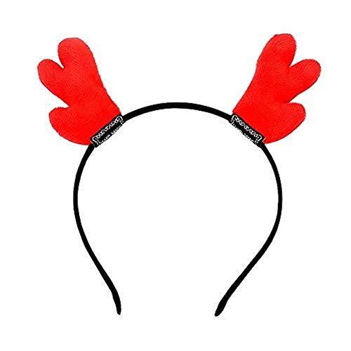Headdress Kerst geweien hoofdband haarbanden Volwassenen Kinderen Kerstmis Halloween masquerade feestvakantie decoratie (kleur: rood) houlian shop-11.11
