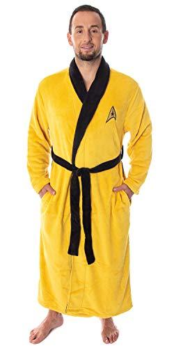 Star Trek The Original Series Adult Costume Fleece Plush Robe Bathrobe – (Kirk, One Size)