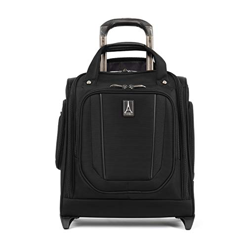 Travelpro Crew Versapack Rolling Underseat Carry-on Bag, Jet Black, One Size