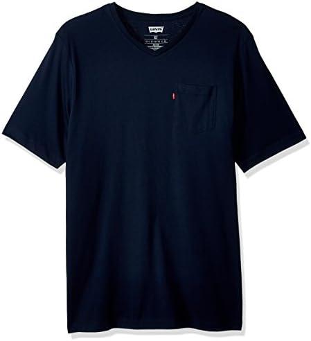Camiseta Levi's Harper - cuello en V para Hombre Color Azul Manga Corta