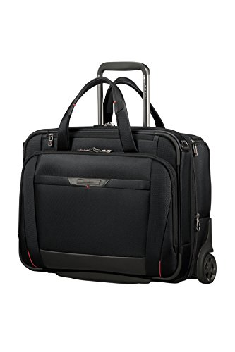 Samsonite Pro-DLX 5 - 15.6 Inch Expandable Laptop Roller Case with 2 Wheels, 46 cm, 29.5/37 Litre, Black