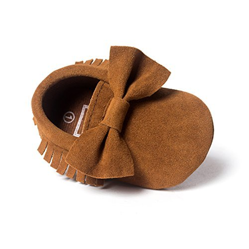 LIVEBOX Infant Baby Girls and Boys Premium Soft Sole Moccasins Tassels Prewalker Anti-Slip Toddler Shoes
