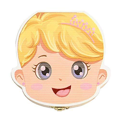 Jingyuu Boite Souvenir Bebe organisateur boite rangement boîte à dents Les dents de lait de bébé sauvent coffret de rangement en bois pour enfants garçon fill