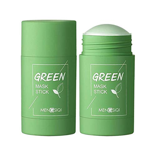 Mintiml Green Tea Purifying Clay Stick Mask Oil Control Anti-Acne Eggplant Solid Fine (Green Tea)