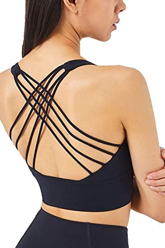 Venlen Sujetador deportivo para mujer, espalda cruzada, para correr, fitness, extraíble y acolchado, para hacer yoga