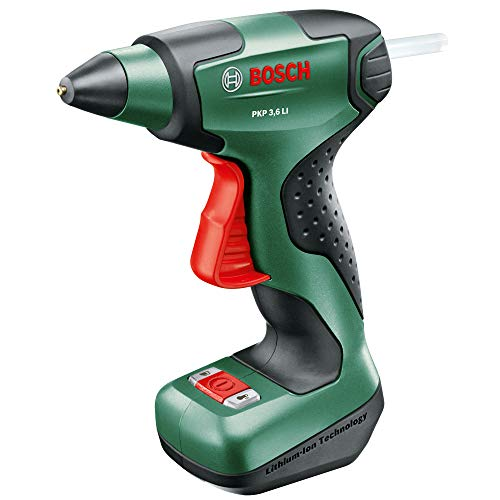 Bosch Cordless Hot Glue Gun PKP 3.6 LI (Integrated Battery, 3.6 Volt, 4 x Glue Sticks Included, in Box)
