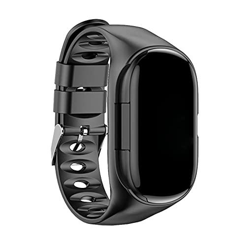 Staright Relógio inteligente 2 em 1 com Earbuds Fitness True Wireless Headphones Contador de Calorias Step Pulseira Inteligente Pulseira de pulso Monitor de pressão arterial de frequência