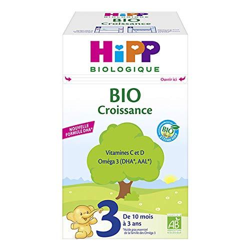 HIPP - Lait 3 Bio Croissance De 10 Mois À 3 Ans 700G - Lot De 2