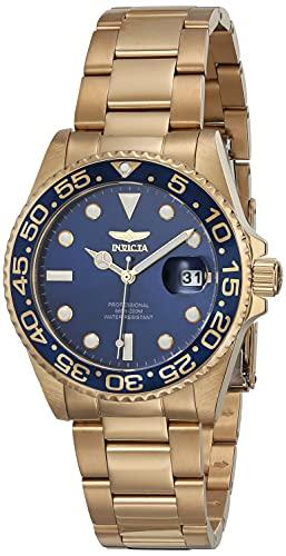 Invicta Women's 33262 Pro Diver Quartz 3 Hand Blue Dial Watch