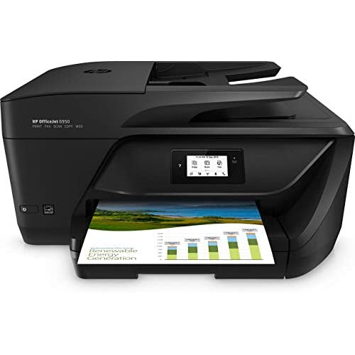 HP OfficeJet 6950 Stampante Multifunzione a Getto di Inchiostro, Stampa, Scannerizza, Fotocopia, Fax, Wi-Fi Direct, 3 Mesi di Servizio Instant Ink Inclusi, Nero
