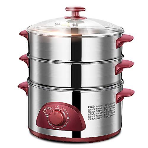 Vaporera Eléctrica De Alimentos. 1300W 3 Tier | Capacidad De 2,5 Litros...