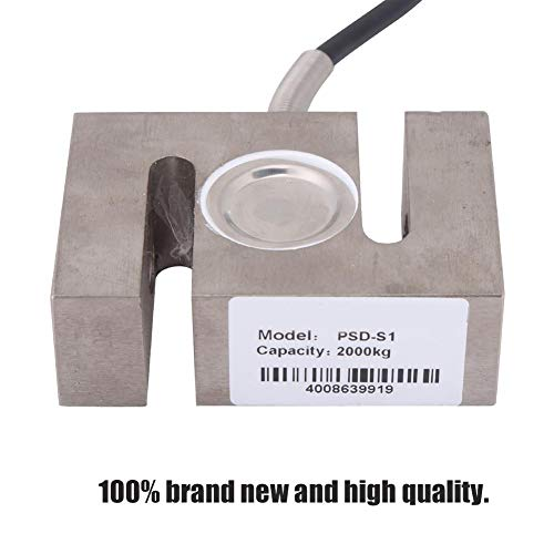 Acogedor Weighting Sensor, S Type High Precision Load Cell Scale Sensor, 50/100/ 300/2000 KG Weighting Sensor with Cable(2000kg)