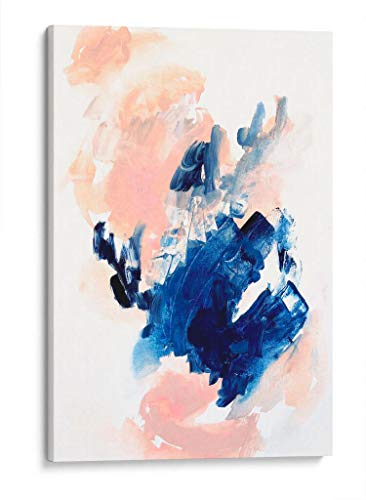 Cuadro decorativo de canvas (lienzo), Tu rosa y mi azul - Abstracto, montado en bastidor de madera de 4.5 cm de profundidad (estilo galería). 50 x 75 cm. Tamaños adicionales disponibles. Perfecto para decorar casa u oficina, y especial para Sala & Dormitorio & Baño. 100% Garantizado.