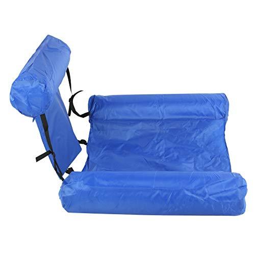Jingyig Hamaca de Agua Inflable, sofá Flotante Plegable, Ajustable con Tablero de Espuma para Piscina de Verano(Model with Buoyancy Board (0.6kg))