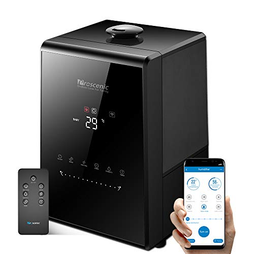 Proscenic 807C Humidifiers, with App Control, Warm and Cool Mist, Customized Humidity, 7 Adjustable,...