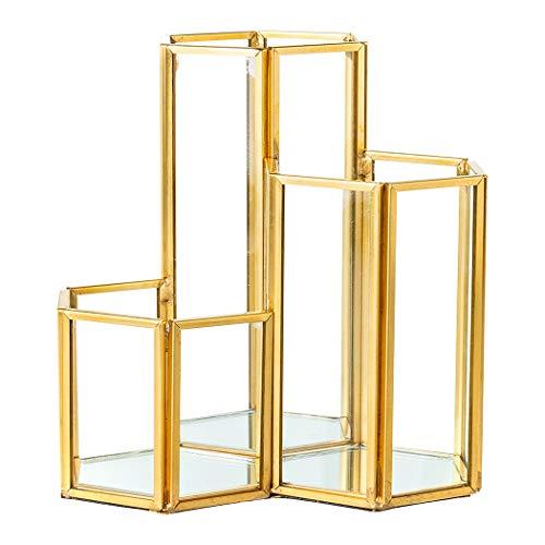 Felimoa デスク用六角ペンホルダー ペンスタンド 小物収納 ホルダー ガラス
