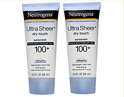 Neutrogena Ultra Sheer Spf#100 Dry-Touch Lotion 3oz (2 Pack) by