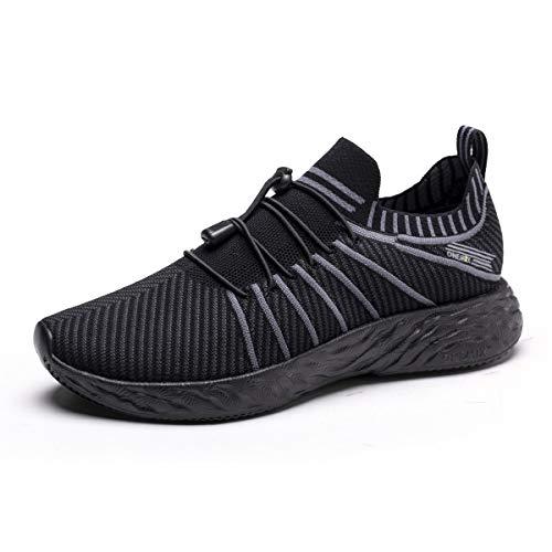 ONEMIX Laufschuhe Herren Damen Sneaker Leichte Sportschuhe Wasserdicht Schuhe Überschuhe Running Trainers (Schwarz, Numeric_43)