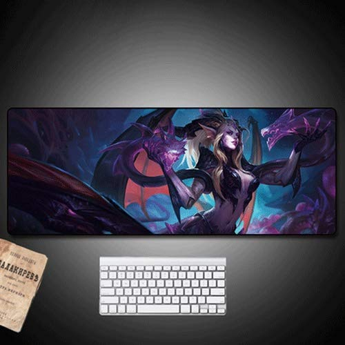 Xfwj LOL heks grote gaming muismat for PC waterdicht Gaming Mouse Pad Desktop Pad 80x30cm grote multifunctionele Comfortable Mouse Pad