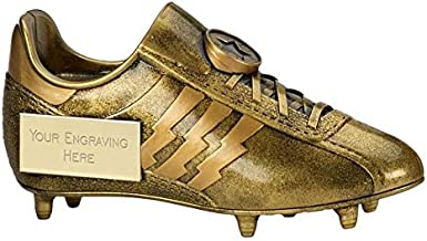 GOLDEN BOOT FOOTBALL FOOTBALLER TROPHY TEAM AWARD 12.5cm FREE ENGRAVING RF526AA