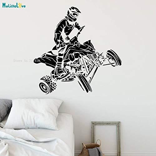 ASFGA Banks Style Teen Schlafzimmer Wandtattoo Allrad-Motorradrennen Allrad-Radantrieb Extremsport-Rennfahrer Spielzimmer Vinyl-Wandbild Poster 57x56cm