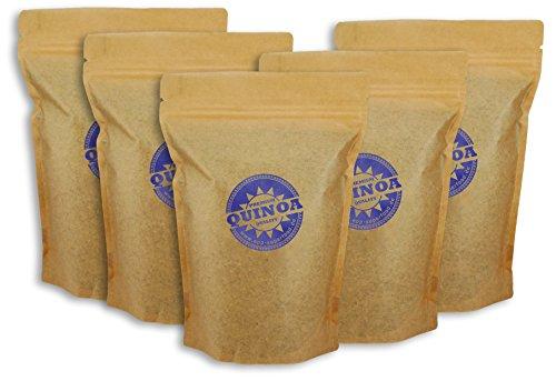 Quinoa Samen weiß, 5kg, Epp Superfood, (5 x 1kg) Sparpaket, Gesunder Korn der Inka, Glutenfrei, Vegan