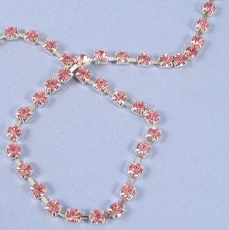 Club Green Diamant op zilveren ketting, roze