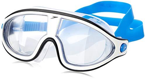 Speedo Unisex-Erwachsene Biofuse Rift Mask Schwimmbrille, Bondi-Blau/Weiß/Transparent, Einheitsgröße