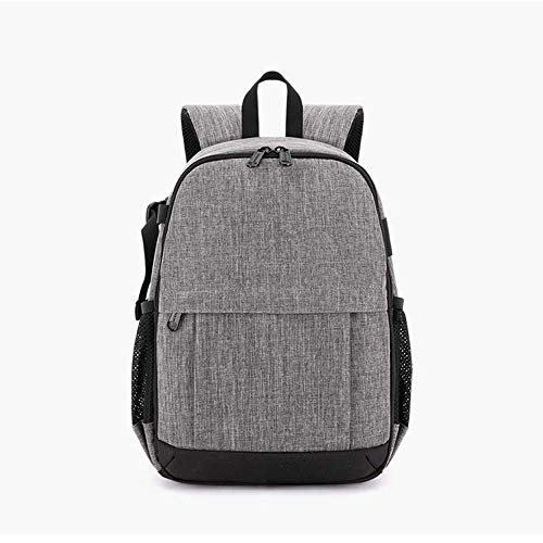 LaLa POP Casual DSLR Camera Backpack, Lightweight And Large Capacity Shockproof Camera Bag Waterproof Oxford Cloth Outdoor Travel Camera Rucksack For Tripods And Laptops -24 * 19 * 36CM Grey