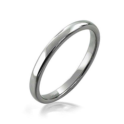 Bling Jewelry Einfache Minimalistische Schmal Stapelbar Dome Paare Hochzeit Band Tungsten Ringe Für Herren Für Damen Silber Ton 2 MM