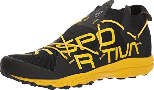 La Sportiva VK Running Shoe, Black/Yellow, 44.5