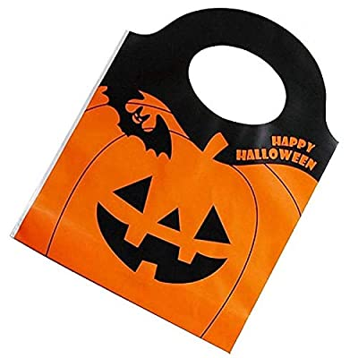 50 PCS Halloween Pumpkin Tote Bags Halloween Gift Bags Trick or Treat Bags for Pumpkin Decorations Party Favors for Kids Adults Halloween Party Favors Decorations