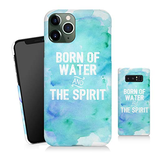 Sleeky Case Compatible LG V30 Case, Born of Water and The Spirit Bible Watercolor Christian 3D Cover