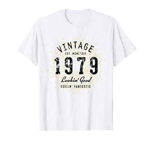 Vintage 42 Cumpleaños Nacido en 1979 Camiseta
