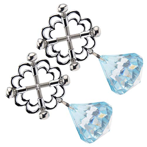 EXCEART Brustwarzenklemmen Verstellbare Brustwarzenklemmen mit Glocken Nicht Durchdringende Brustwarzenringe Bruststimulationsspielzeug Sm Flirtspielzeug für Frauen Weibliche Erwachsene