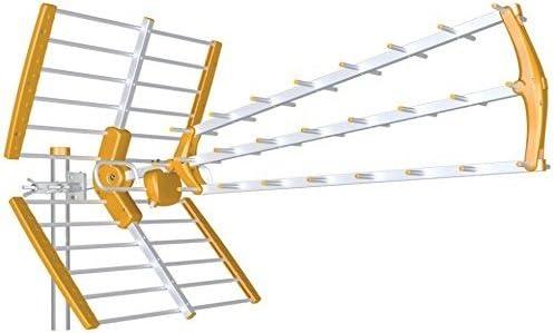 Antena TDT LTE Alta Ganancia 18 dB BKM (Negro)