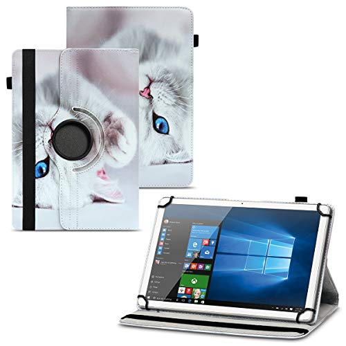 UC-Express Tablet Schutzhülle kompatibel für Vodafone Tab Prime 6 Hülle Tasche Universal Cover Hülle aus Kunstleder Standfunktion 360° Drehbar, Farben:Motiv 10