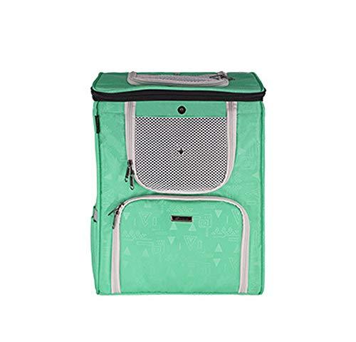 Pet Dogbackpack Bag, Wasserdicht Padded Stoff Oben Offen Weiche Seite Breathable Ineinander Greifen Für Die Reise Camping Im Freien,Grün
