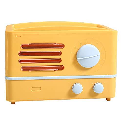 HERCHR Tissue Box Cover Retro Radio Form Toilettenpapierhalter mit Aufbewahrungsdeckel(Gelb)