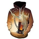 Herren Kapuzenpullover Hoodie Mode warm Langarm Pullover Sweatshirt mit Taschen Kordelzug Neuheit...